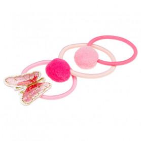 Élastique pour cheveux Miranna, ensemble rose - Accessoire pour les filles
