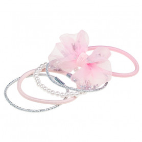 Phylis Hair elastic, pink set - Accessory for girls
