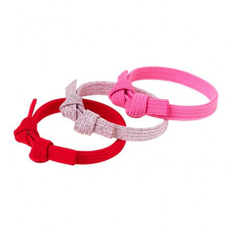 Élastique pour cheveux Manon, ensemble rose - Accessoire pour les filles