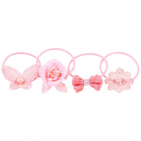Laury Hair elastic, pink set - Accessory for girls