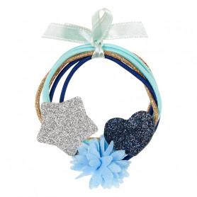 Élastique pour cheveux Malina, étoile et coeur - Accessoire pour les filles