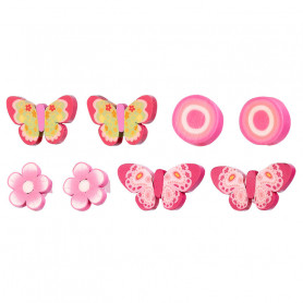 Tita Hair Clips, pink set, 4 pairs - Accessory for girls