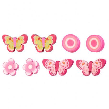 Pinces cheveux Tita, ensemble rose, 4 paires - Accessoire pour les filles