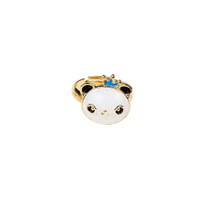Rosa Adjustable ring, blue panda - Accessory for girls