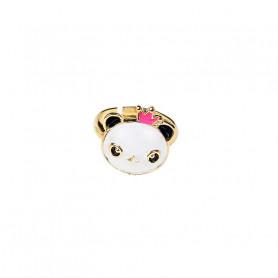 Bague réglable Rosa, panda rose - Accessoire pour les filles
