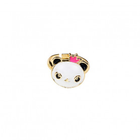 Rosa Adjustable ring, pink panda - Accessory for girls
