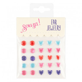 Ear stickers, peas and hearts - Accessory for girls