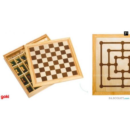 Coffret 3 jeux échecs