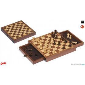 Jeu d'échecs magnétique avec tiroirs