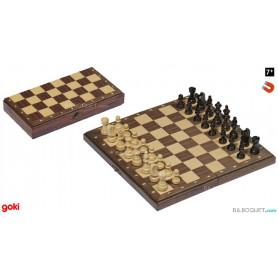 Jeu d'échecs magnétique pliable