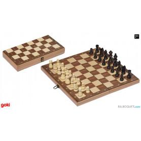 Jeu d'échecs en bois 38x38 cm
