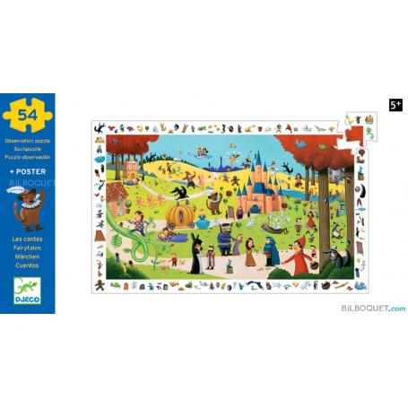 Puzzle observation Les contes 54 pièces