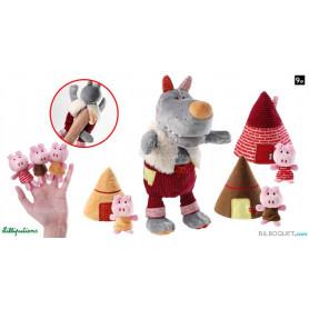 Marionnette à main Loup et les 3 petits cochons