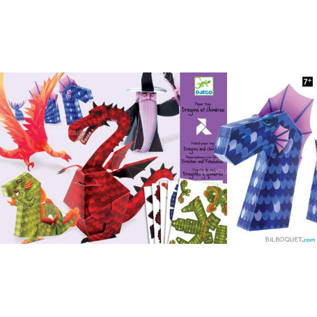 Paper toys Dragons et chimères Design by Arthur Leboeuf