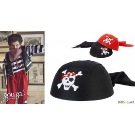 Chapeau coiffe de pirate O'Mally 4-8 ans