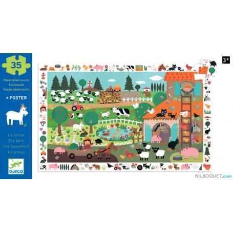 Puzzle Observation La ferme