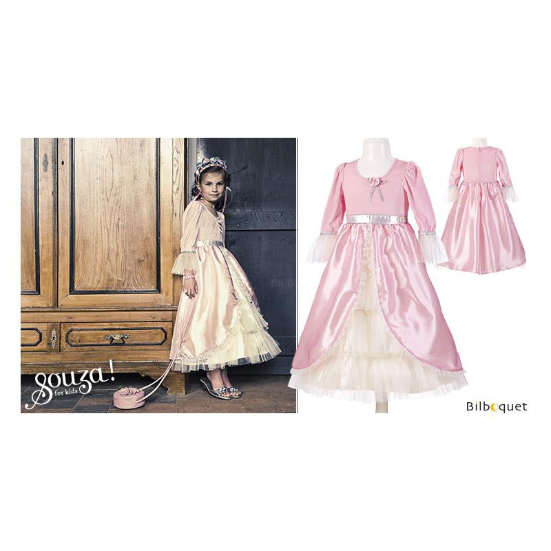 Classic Dress Marie Antoinette Light Pink Costume For Girl