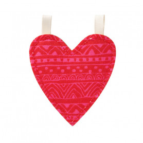 Décoration cœur en tissu