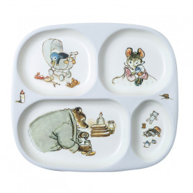 4 Compartments serving tray - Ernest & Célestine