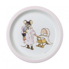 Assiette bébé Rose - Ernest & Célestine