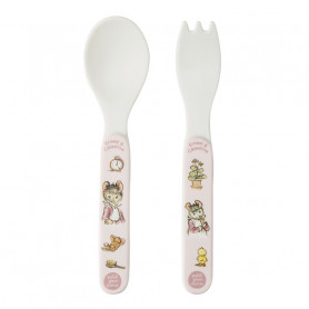 Pink 2-pieces cutlery set - Ernest & Célestine