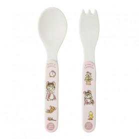 Pink 2-pieces cutlery set - Ernest & Célestine