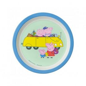 Assiette bébé bleue - Peppa Pig