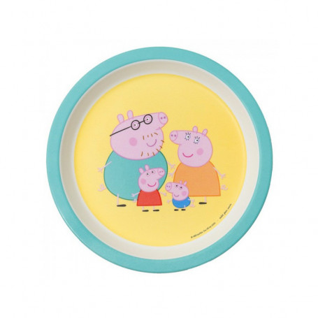 Assiette bébé vert - Peppa Pig