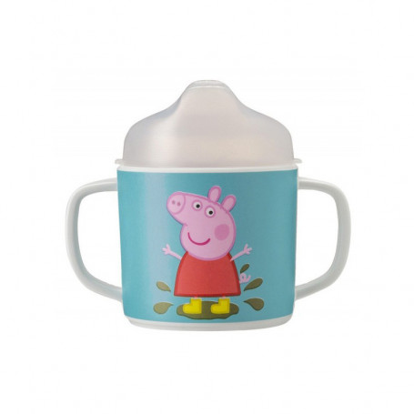 Double-handled cup with removable lid - Peppa Pig
