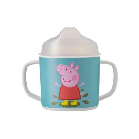 Tasse 2 anses avec bec amovible - Peppa Pig