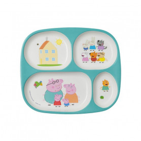 4 compartment serving tray - Peppa Pig