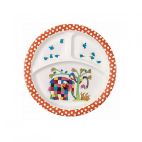 Plate with 3 compartments - Elmer