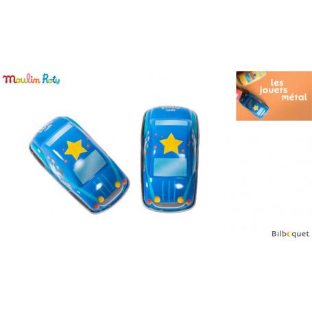Blue Friction car - Les jouets métal - Moulin Roty