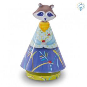 Lampe Lucioles - Le raton laveur