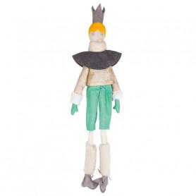 Poupée Roi - Les Cocozaks - cheveux jaune, cape à motif doré