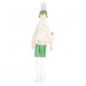 Poupée Reine - Les Cocozaks - chignon vert, couronne beige