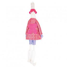 Poupée Reine - Les Cocozaks - chignon rose, couronne beige