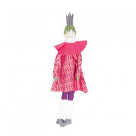 Poupée Reine - Les Cocozaks - chignon vert, couronne noire