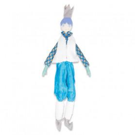 Poupée Roi - Les Cocozaks - cheveux mauve, gilet laine de mouton