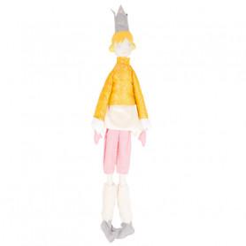 Poupée Reine - Les Cocozaks - chignon jaune, couronne beige