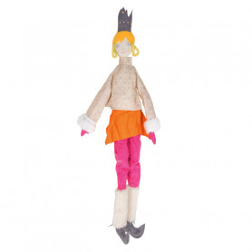 Queen Doll - Les Cocozaks - yellow mat, black crown