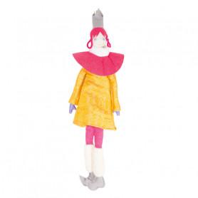 Poupée Reine - Les Cocozaks - natte rose, couronne grise