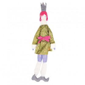 Poupée Reine - Les Cocozaks - natte rose, couronne noire
