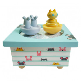 The cat and the Mouse Musical Wooden Box