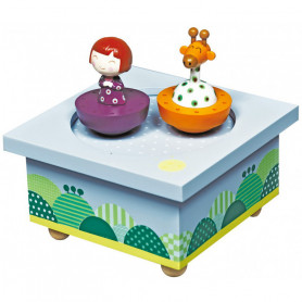Ninon and the giraffe Musical Wooden Box