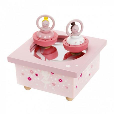 Pink ballerina Musical Wooden Box