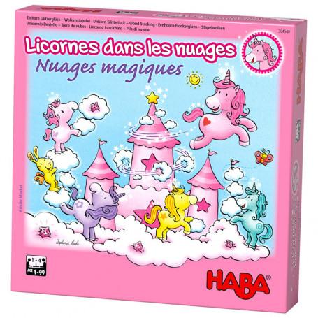 Unicorn Glitterluck - Cloud Stacking - Haba games