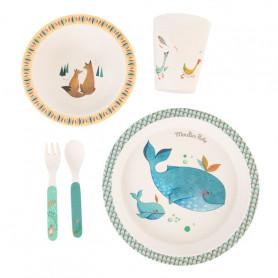 Set vaisselle en bambou - Le voyage d'Olga