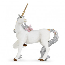 Licorne argentée - Figurine Papo