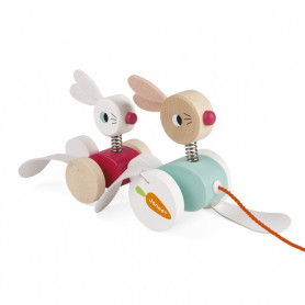 Zigolos Pull-along Rabbits - Wooden Toy